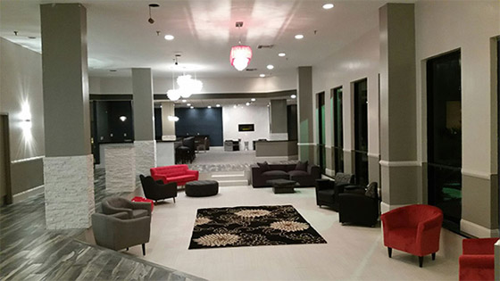 lobby area of Magnolia Bluffs hotel